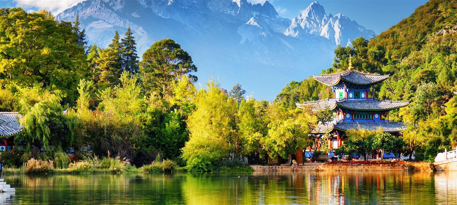 temple et lac