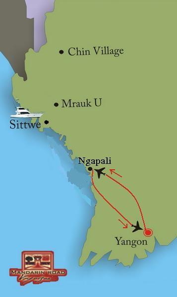 Extension à la plage de Ngapali